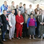 Principals and officials with Ernest Gorgonzola (Acting DD), Marion Green-Thompson of Jeffreys Bay Wind Farm (front row, second from left), Prof Brahm Fleisch (front row, second from right) and Caroll Warmberg, Managing Director of ITEC (front row, right).