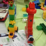 One of the LEGO models depicting the inequalities in the education system