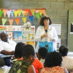 Talking about ITEC's literacy and library services for ECD Centres