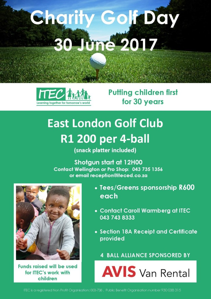 ITEC Golf Day email ad