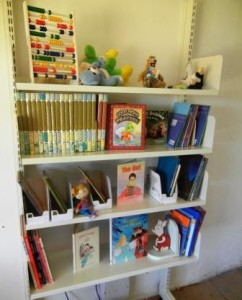 The final product - shelves full of captivating books