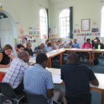 Teachers at a Read Aloud workshop in the Teacher's Resource Centre at ITEC