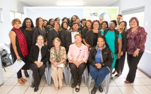 Graduates with representatives from the Jeffrey's Bay Wind Farm and the Department of Social Development